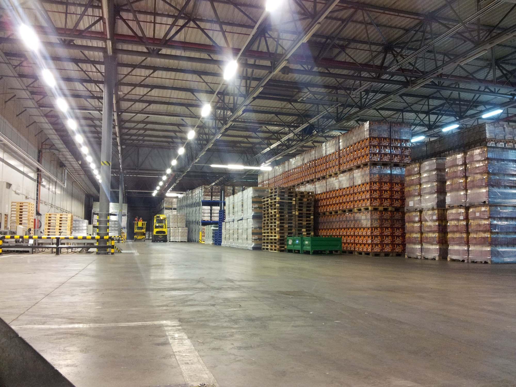 Úprava osvětlení ve skladu pivovaru v Plzni (4)