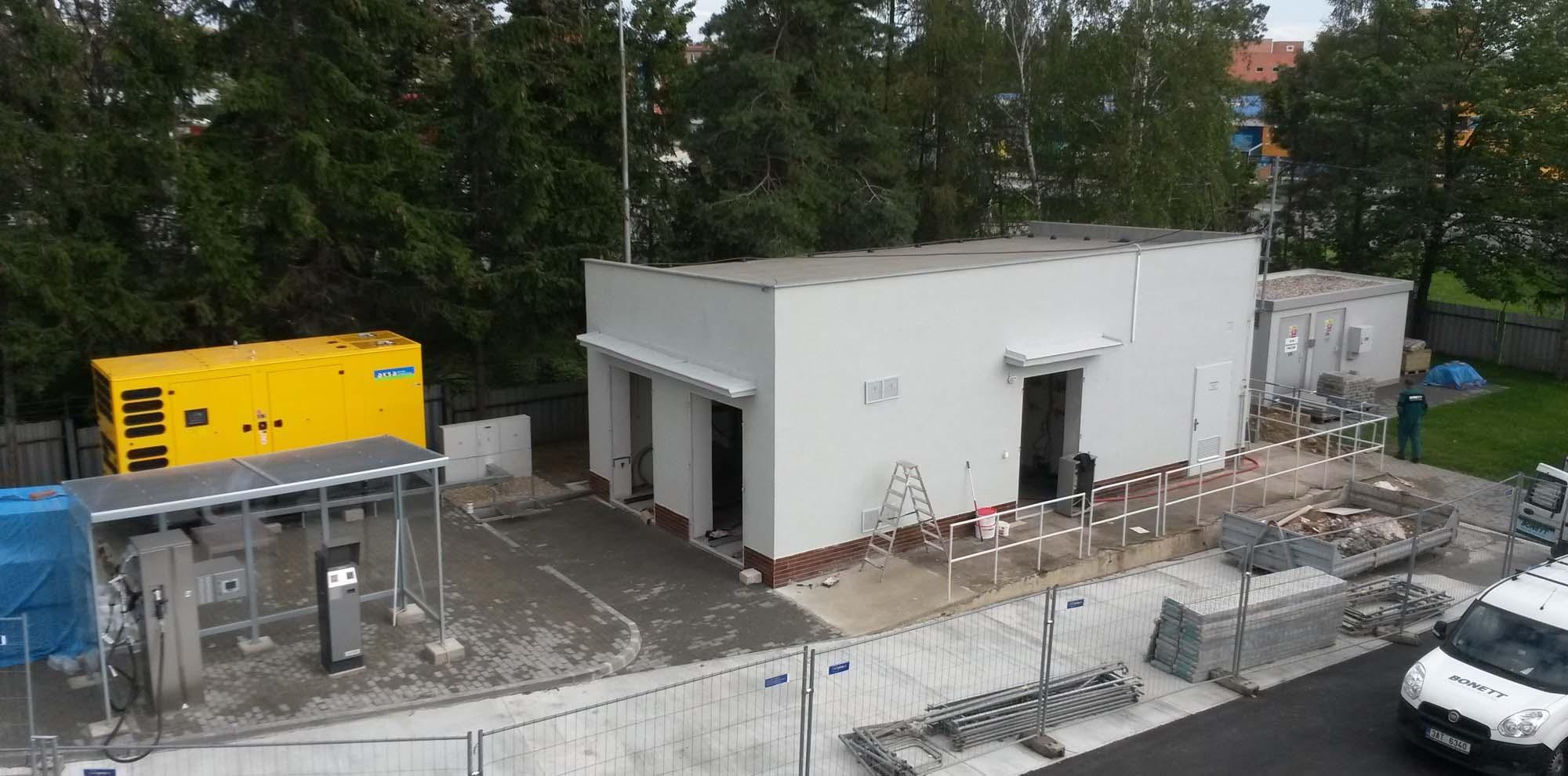 DPmB Slatina – plnící stanice CNG (1)
